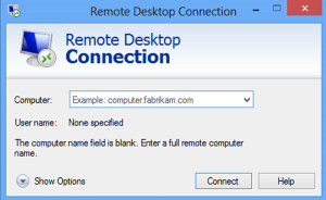 setup a remote desktop session to work computer for free