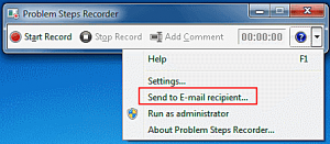 use steps recorder to send errors to it consultant