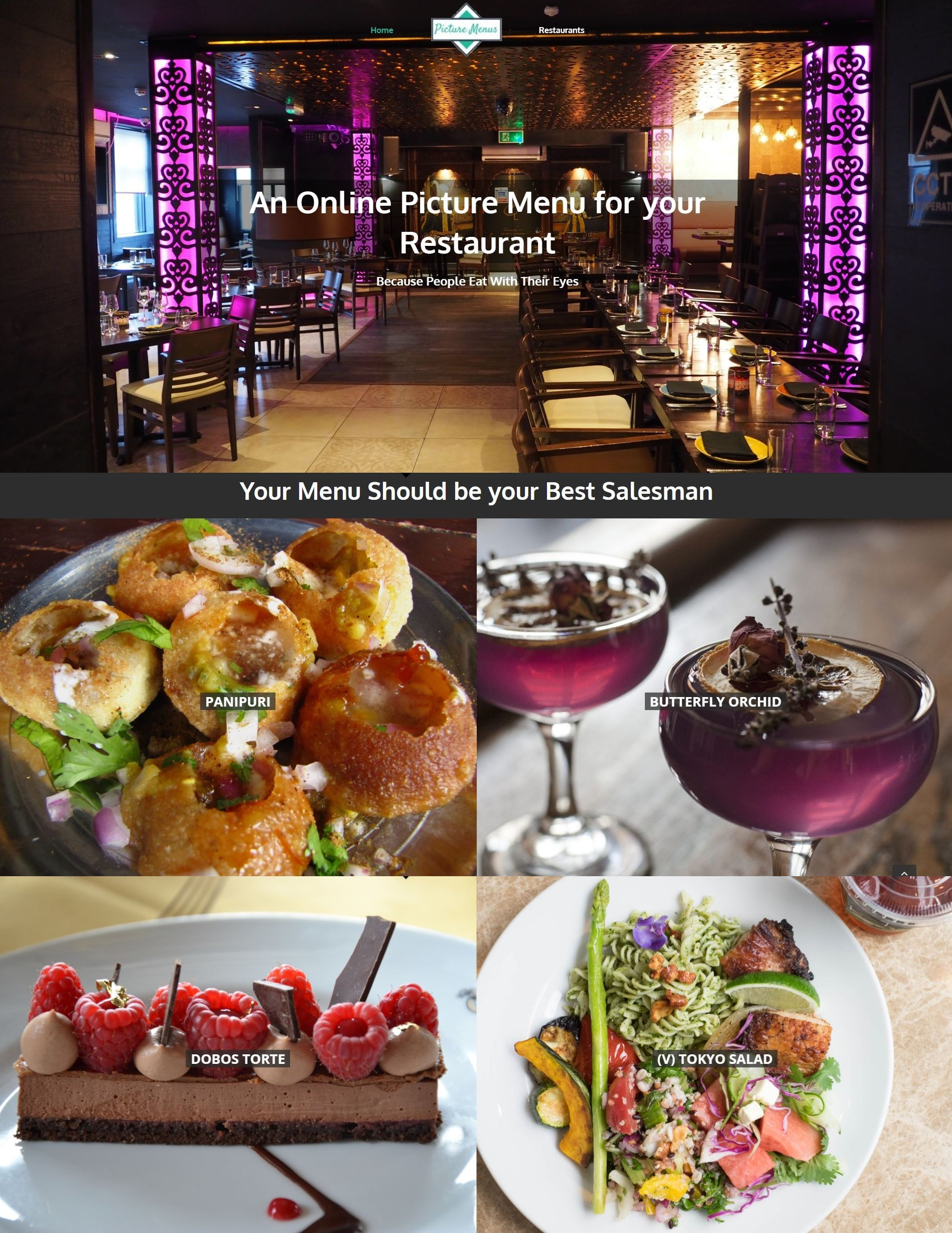 Get an Online Picture Menu for your Restaurant